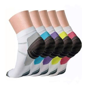 5 Pairs Compression Socks Low Cut Running Socks
